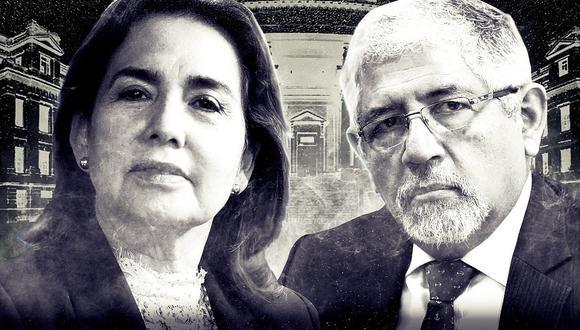 Los jueces supremos Elvia Barrios y Hector Lama buscan presidir el Poder Judicial (Composición: El Comercio)