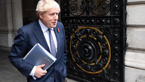 El primer ministro británico Boris Johnson. (Photo by JUSTIN TALLIS / AFP)