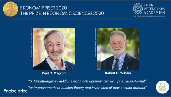 Mundo: Estadounidenses Paul Milgrom y Robert Wilson ganan el Premio Nobel  de | NOTICIAS EL COMERCIO PERÚ