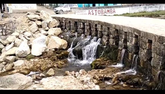 Pasco: Arrojan enormes piedras y dañan estructura de puente inca declarado patrimonio cultural (Foto: Facebook | Noticias de la Región Pasco)