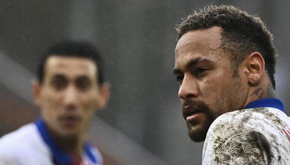 Neymar y Ángel Di María no estarán para el Barcelona-PSG en el Camp Nou. (Foto: AFP)