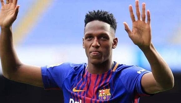 Yerry Mina, según Sport, jugará en el Everton. (Foto: AFP)