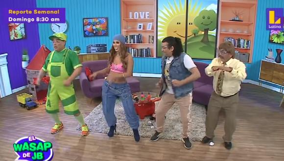"Yahaira Plasencia se presentó en secuencia de ""El Wasap de JB"". (Foto: Captura Latina)"