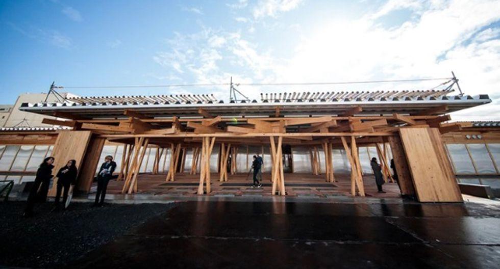 Tiene una superficie de 5.300 metros cuadrados y será erigida con unas 40.000 piezas de madera sobre una de las islas de la bahía de Tokio. (Foto: Agencias)