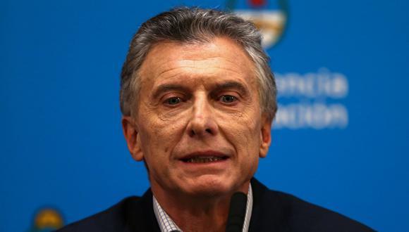 El presidente de Argentina, Mauricio Macri, ofreció una conferencia de prensa desde Casa Rosada un día después de las PASO. (Reuters).
