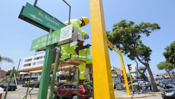 Miraflores realiza trabajos para mejorar fluidez del tránsito