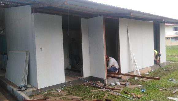 Tras llegar el primer paciente de COVID-19 y no tener dónde atenderlo, se aceleró la construcción de una zona aislada en el Hospital Amazónico de Yarinacocha.
