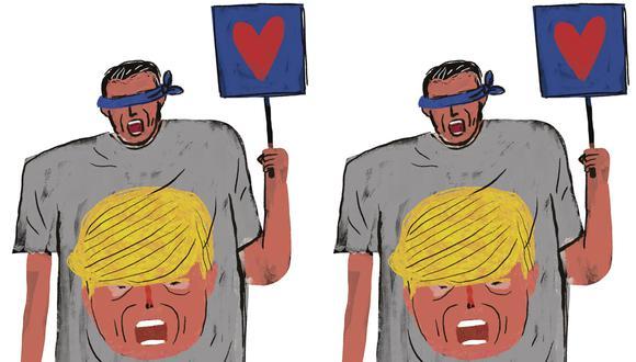 """""""Lo que no es incierto es que el expresidente Trump ahora cuenta con un masivo movimiento político que le servirá de base para seguir luchando por recuperar el poder"""". (Ilustración: Victor Aguilar)"""