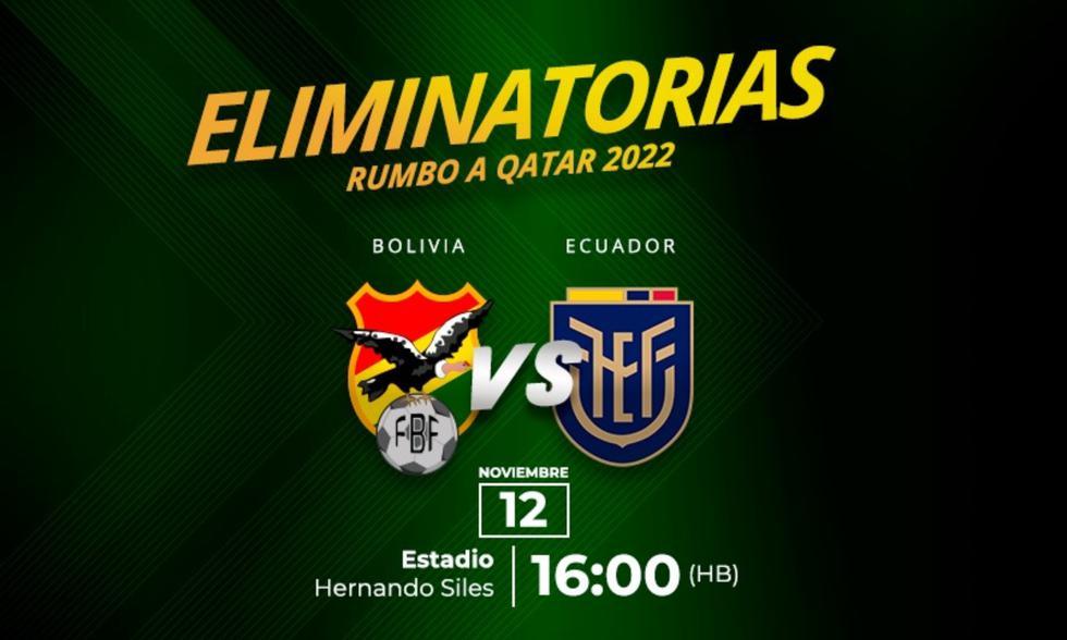 Todo los detalles sobre el Ecuador vs. Bolivia en vivo y online por las Eliminatorias Qatar 2022 lo encontrarás aquí. FOTO: Twitter