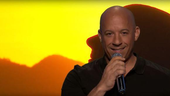Vin Diesel canta con voz de ardilla en programa de Jimmy Fallon
