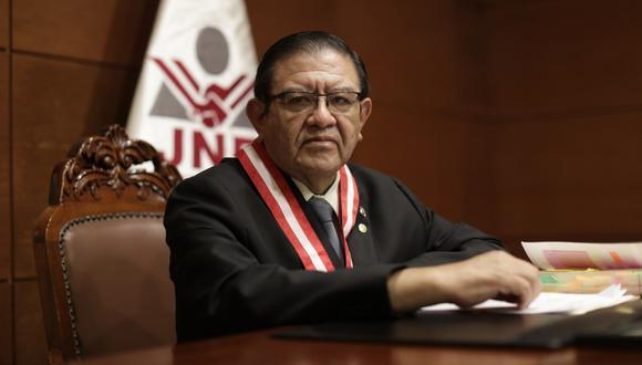 Jorge Luis Salas Arenas tomó las riendas del JNE en plena pandemia. (Foto: Anthony Ramírez Niño de Guzmán/GEC)