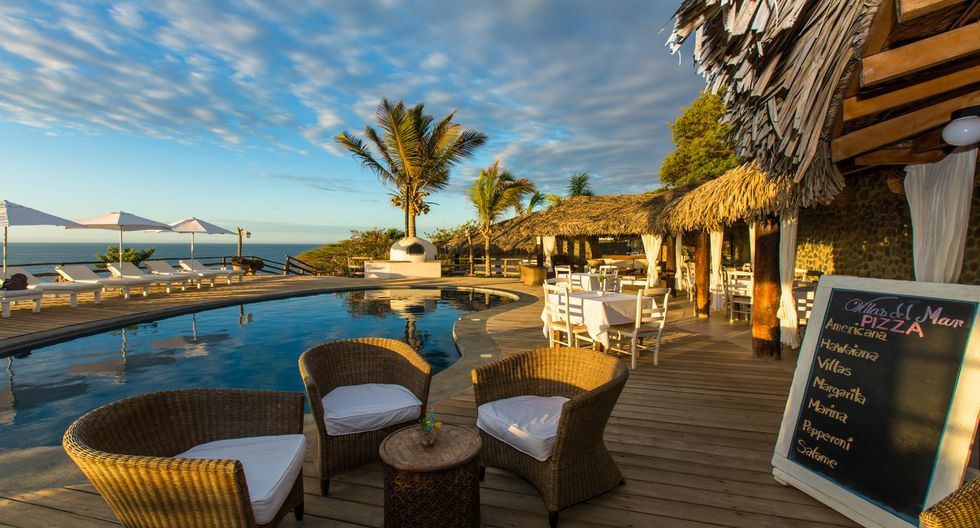 El hotel Villas del Mar en Máncora está en la playa Las Pocitas. Foto: Villas del Mar