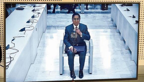 César Hinostroza ante la Sala de Audiencias Nacional de España (Foto: Efe)