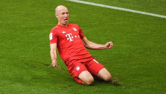 Arjen Robben dejará el Bayern Múnich, club que defendió desde el 2009. (Foto: AFP)