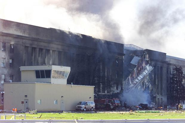 On September 11, 2001, a plane from the Pentagon in Washington, DC, crashed into a building, causing haze.  (AFP photo / Luke Frasa).