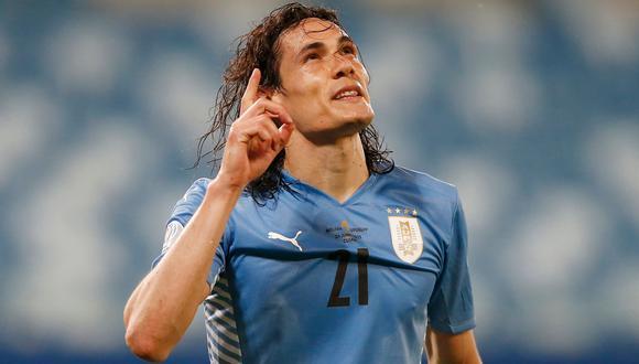 Edinson Cavani anotó el único gol del partido con el que Uruguay venció a Paraguay. (Foto: Reuters)