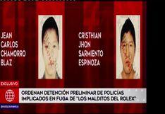 """Dictan detención preliminar contra policías implicados en fuga de """"Los Malditos del Rolex"""