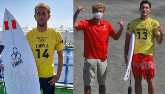 Miguel Tudela y Lucca Mesinas debutaron con pie derecho en los Juegos Olímpicos Tokio 2020. (Foto 1: Christian Cruz / GEC - Foto 2: IPD)