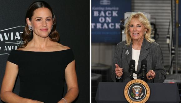 Jennifer Garner y Jill Biden estarán juntas el próximo fin de semana. (Foto: Mandel Ngan / Jean-Baptiste Lacroix / AFP)