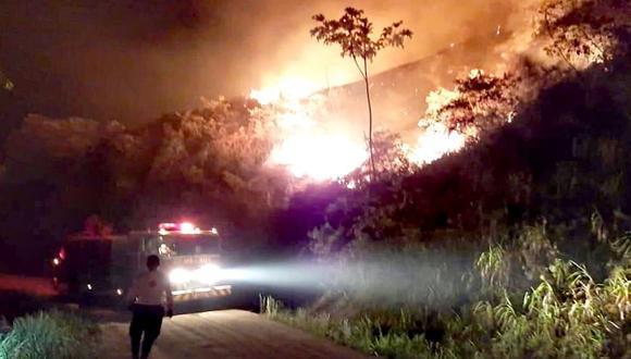 Cenepred advierte que 415 distritos corren riesgo muy alto por incendios forestales (Foto referencial)