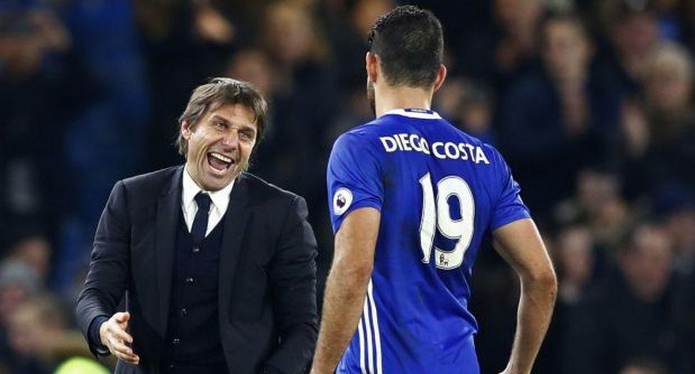 Chelsea: Antonio Conte desmintió altercado con Diego Costa