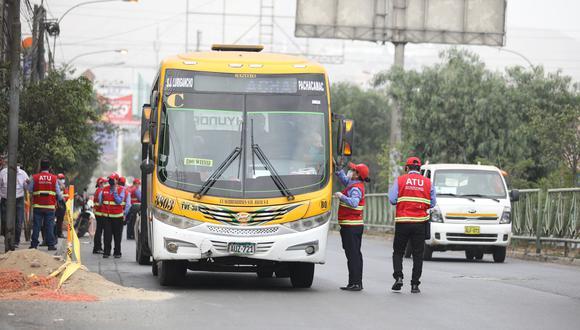 Desde la reactivación económica, la ATU ha realizado 249 acciones de fiscalización en 62 puntos de 25 distritos de Lima y Callao. (Foto: Britanie Arroyo)