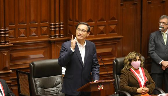Presidente Martín Vizcarra afirmó ante el Congreso que se encuentra con la conciencia tranquila (Foto: Presidencia)