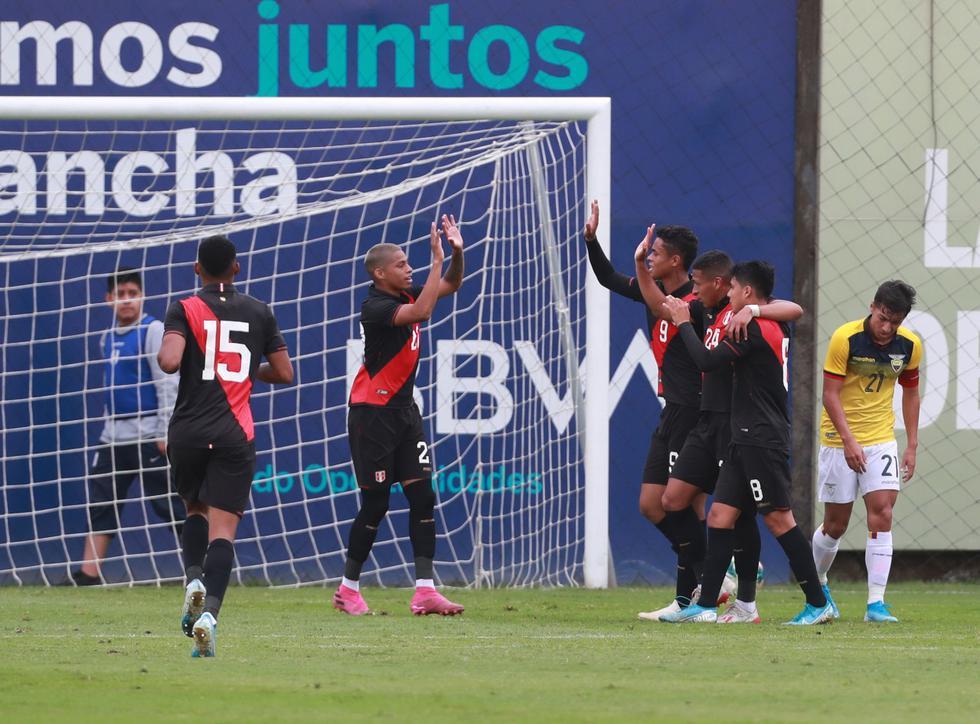 Perú derrotó a Ecuador con goles de Quevedo y Pacheco. (Foto: GEC)