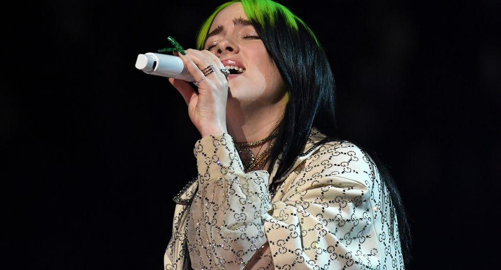Billie Eilish durante su performance en los Grammy 2020. (Foto: AFP)