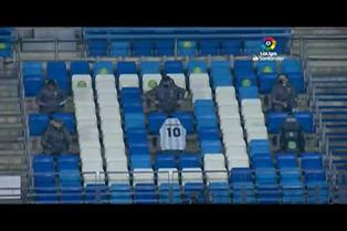 Homenaje a Maradona antes del Real Madrid-Deportivo Alavés