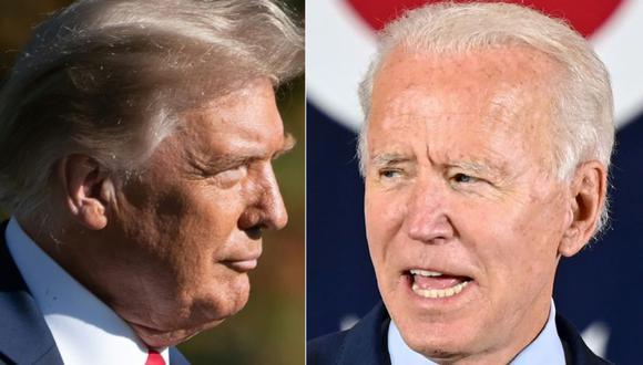Donald Trump en Nevada y su adversario demócrata, Joe Biden, en Carolina del Norte. (Foto: SAUL LOEB y JIM WATSON / AFP).