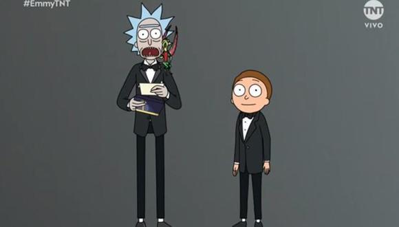Rick and Morty tomaron por sorpresa a todos los espectadores de los premios Emmy.  (Foto: Captura de pantalla)
