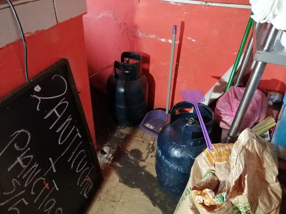 Balón de gas se encontraba instalado cerca de la mesa de comensales de cevichería. (Foto: Difusión)