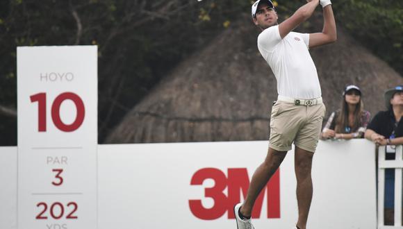 Patricio Freundt-Thurne en el hoyo 10 del Camaleón Golf Club. (Foto: Enrique Berardi / LAAC)