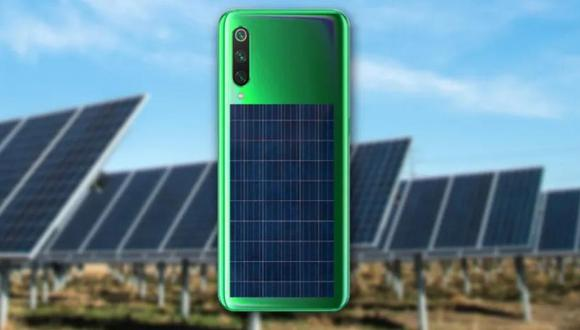 La compañía china de celulares Xiaomi patentó un celular 'todo pantalla' que integra un panel solar en la parte trasera.
