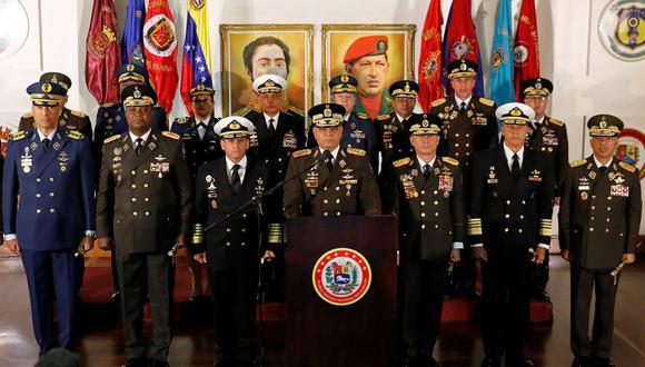 Crisis en Venezuela: La cúpula militar que sostiene a Nicolás Maduro en el poder. (Reuters).