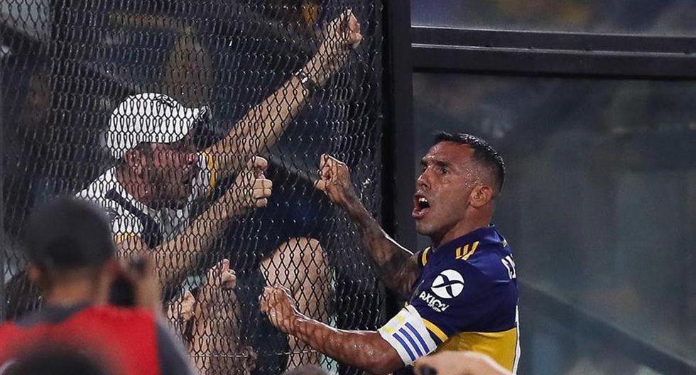 Carlos Tévez anotó el gol del triunfo y del título para Boca Juniors al vencer por 1-0 a Gimnasia La Plata. | Foto: EFE