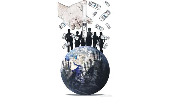 La vacunación se ha vuelto a convertir en una situación de interés mundial (Ilustración: Rolando Pinillos / El Comercio)