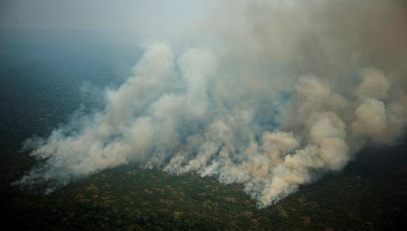 Brasil registró 30.901 focos de incendio en agosto en la región amazónica, casi el triple de los 10.421 del mismo mes de 2018. (EFE)