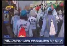 Callao: trabajadores de limpieza se niegan a recoger basura en diversas calles como medida de protesta