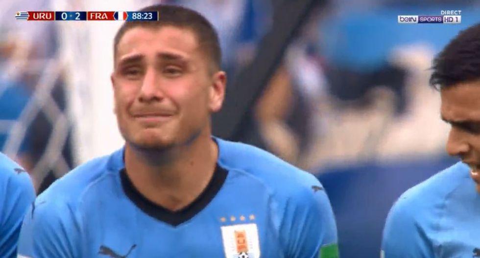 Uruguay vs. Francia: José María Giménez lloró a cinco minutos del final. (Foto: AFP)