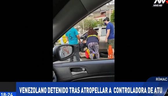 El sujeto intentó fugarse tras atropellar a la controladora de vía de la ATU. (ATV+)