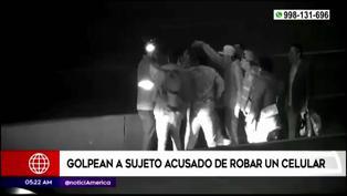 Surco: Pasajeros golpean a ladrón en plena Panamericana Sur