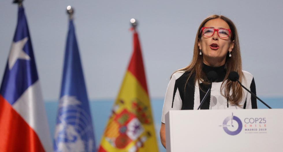 Carolina Schmidt, Ministra de Medio Ambiente de Chile y nueva presidenta de la conferencia sobre cambio climático de la ONU 2019 (COP25), habla durante la ceremonia de apertura de la COP25 en Madrid. (Foto: Reuters)