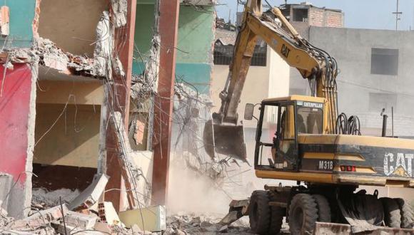 Habrá trabajos de demolición en 71 colegios de Lima