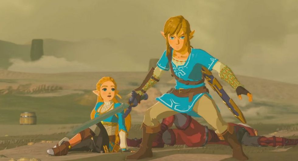 Zelda y Link en Zelda The Breath of the Wild. (Captura de pantalla)