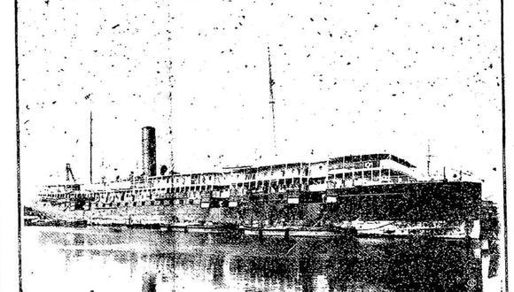 """El vapor """"Colombia"""", que empezó a navegar en el año 1899, se encontraba bajo el mando del capitán Gronow al encallar en las costas del norte del Perú. (Foto: GEC Archivo Histórico)."""