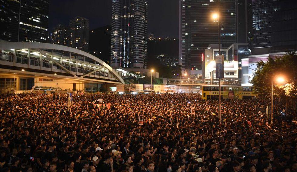Hace unos días, dos millones de personas salieron a protestar en Hong Kong. (AFP)