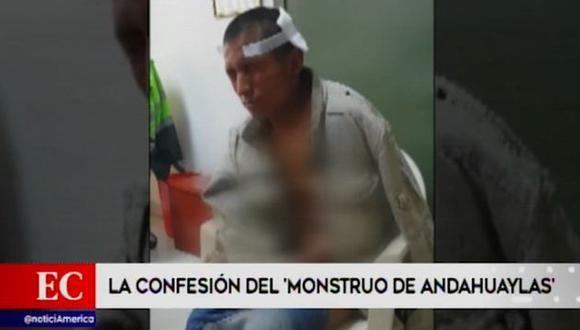 Michael Oscco Quispe permanece bajo custodia policial. (América Noticias)