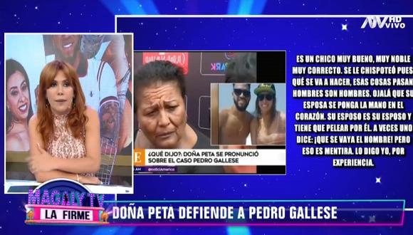 """""""Se le chispoteó pues, ¿qué se puede hacer? Hombres son hombres"""", son las palabras que la madre de Paolo Guerrero usó para calificar infidelidad de Pedro Galles."""